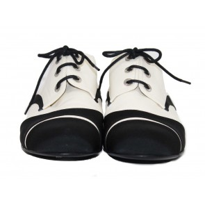 Chanel Black and White Cap-Toe Oxfords