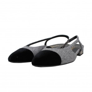 Chanel Grey Flats