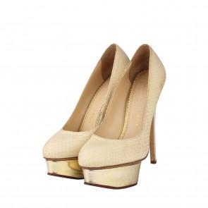 Charlotte Olympia White Heels