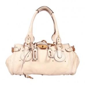Chloe Cream Paddington Tote Bag