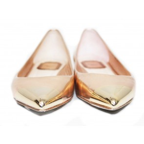 Christian Dior Gold Pointed Flats