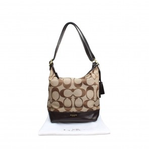 Coach Brown And Black Shoulder Bag
