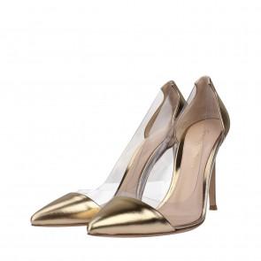 Gianvito Rossi Gold Heels