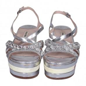 Miu Miu Silver Sandals
