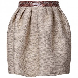 MSGM Brown Skirt