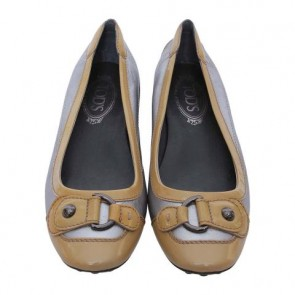 Tod´s Silver Patent Ballet Flats
