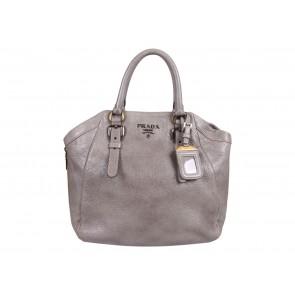 Prada Grey Cervo Lux Shoulder Bag
