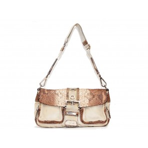 Prada Brown Python Shoulder Bag