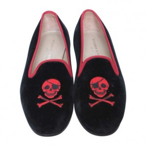 Stubbs & Wootton x Marc by Marc Jacobs Black And Red Skull Flats