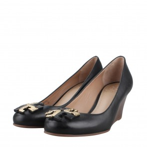 Tory Burch Lowell Black Wedges