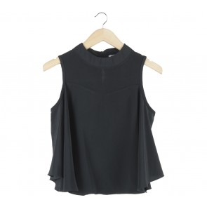 Black Cut Out Blouse