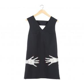 Black Sleeveless Cut Out Midi Dress