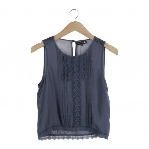 Cotton On Dark Blue Victorian Sleeveless