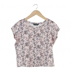 Dorothy Perkins Pink Floral Quilted Blouse