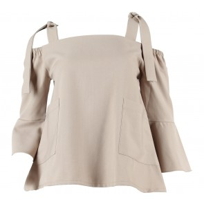 Love + Flair Light Brown Bardot Blouse