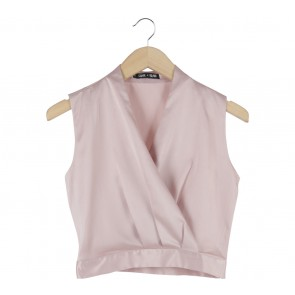 Love + Flair Pink Cropped Sleeveless