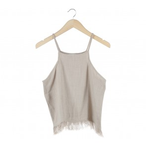 Mango Cream Straw Sleeveless