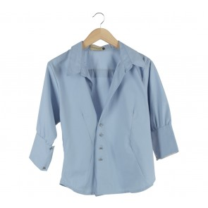 Maryalle Light Blue Wrap Shirt