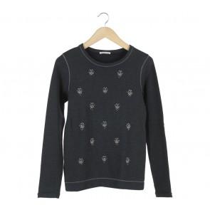 Promod Black Beaded Sweater