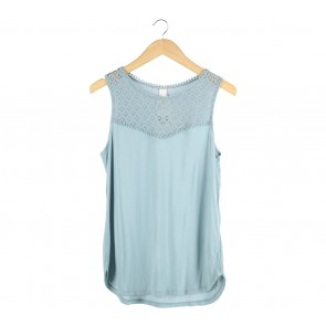 H&M Blue See Thrue Sleeveless