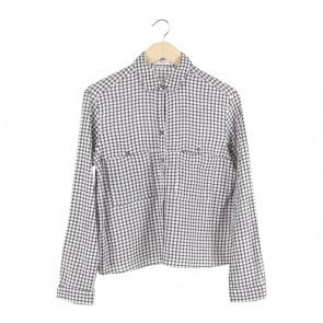 Mango Black And White Shirt