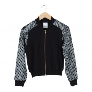 Ciel Black And White Raglan Jacket