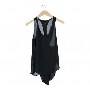 Miki Couture Black Cotton Sleeveless