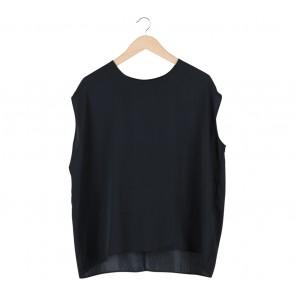 Topshop Black Polyester Blouse