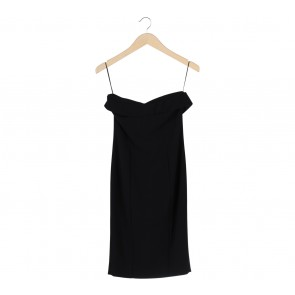 Zara Black Polyester Tube Mini Dress