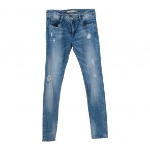 Zara Blue Denim Washed Skinny Pants