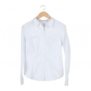 Esprit White Cotton Basic Shirt