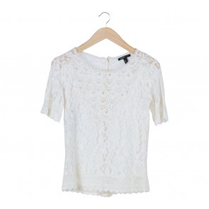 Mango White Lace Blouse