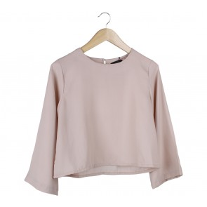 Beste Project Cream Bell Sleeves Blouse