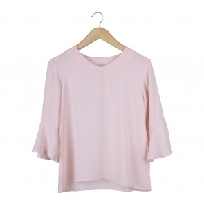 Beste Project Pink Bell Sleeves Blouse