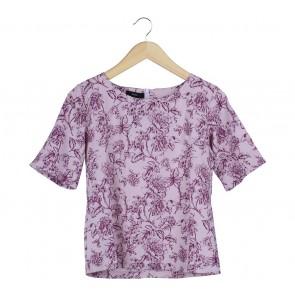 Beste Project Purple Floral Blouse