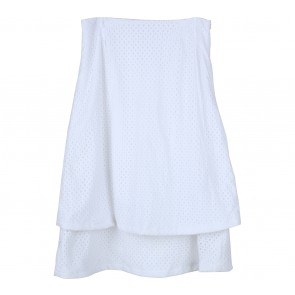 Beste Project White Perforated Layer Skirt