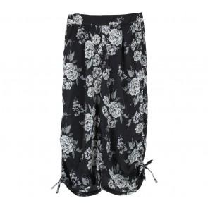 Beste Project Black Floral Ribbon Culottes Pants