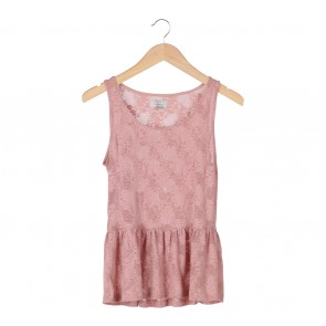 Zara Peach Sleeveless