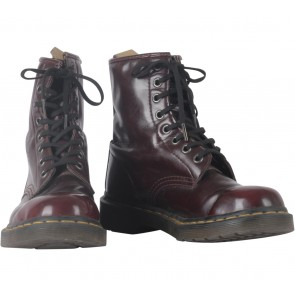 DRMARTENS Maroon Boots