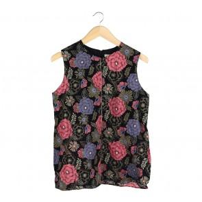 Shop At Velvet Black Floral Sleeveless
