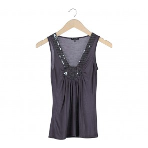 Massimo Dutti Dark Grey Sequins Sleeveless