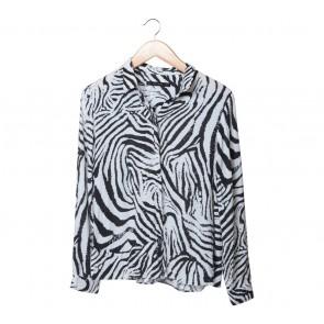 Zara Black And White Zebra Shirt