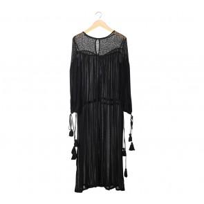 NA-KD Black Lace Long Dress