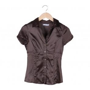 Zara Brown Satin Shirt
