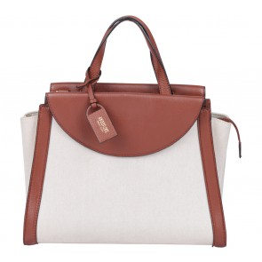 Kate Spade Cream And Brown Saturday Satchel