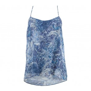 Mango  Blue Pattern Sleeveless