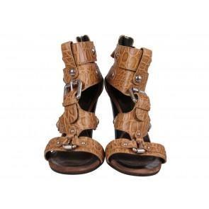Balmain x Giuseppe Zanotti Nude Sandals