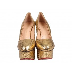Charlotte Olympia Gold Wedges