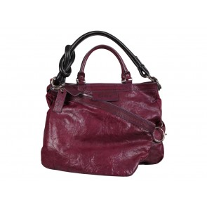 Chloe Purple Leather with Knotted Shoulder Strap Tote Bag