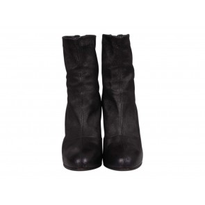 Brian Atwood Black Electra Platform Ankle Boots